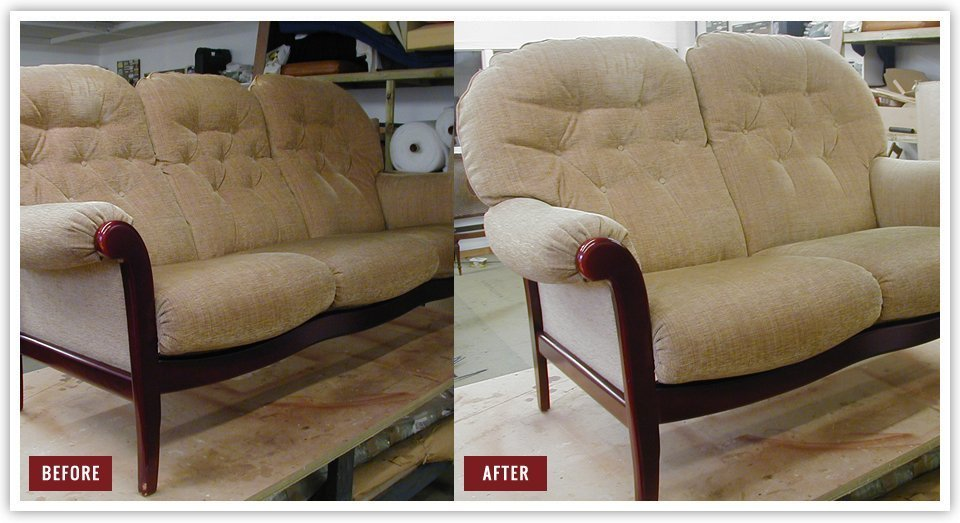 Before and after sofa