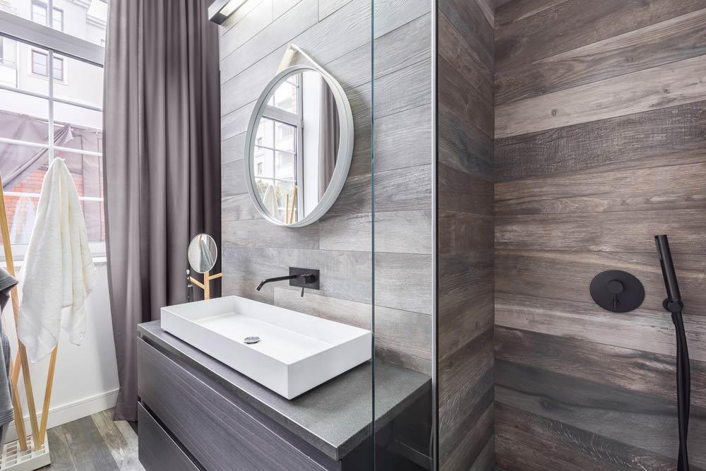 renovated bathroom sink