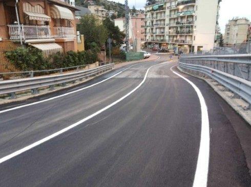 lavoro di asfaltatura terminato