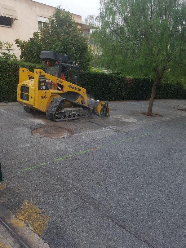 realizzazione di strade e asfalti