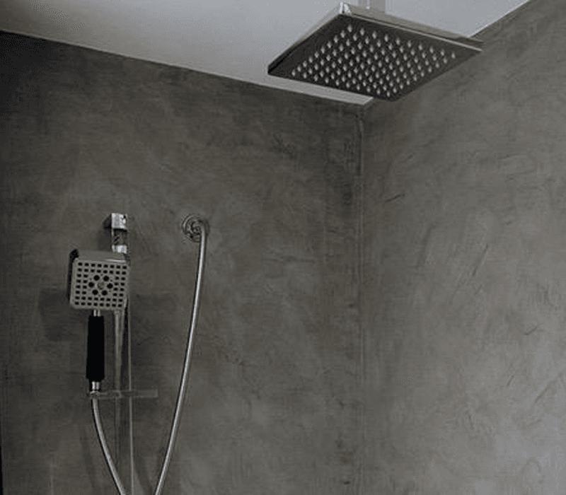 bagno microcemento doccia