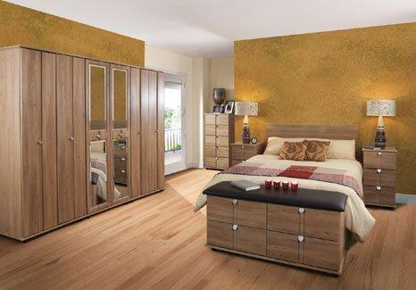 wooden featured bedroom
