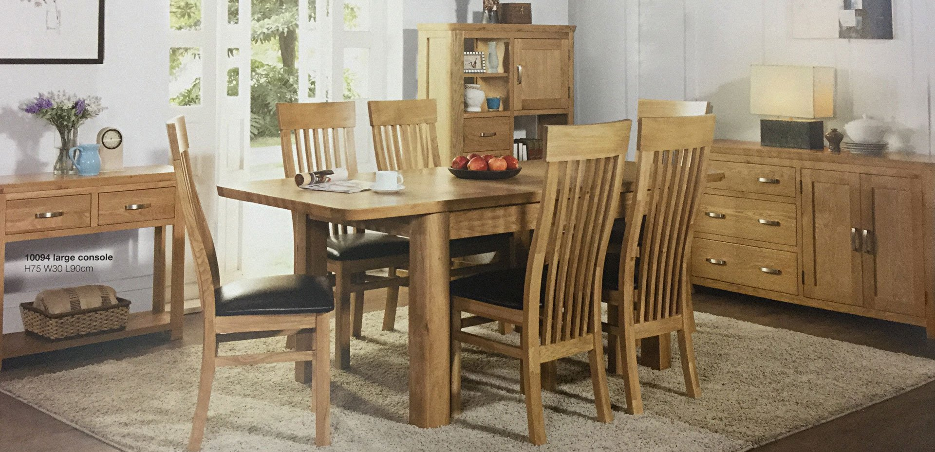 large console dining room furniture set