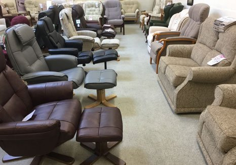 selection of swivel chairs and armchairs