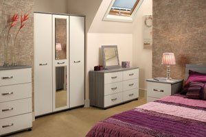 selection of white bedroom furniture