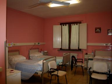Camere della RSA Villa Desiderio