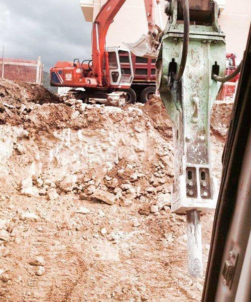 ruspa che scava