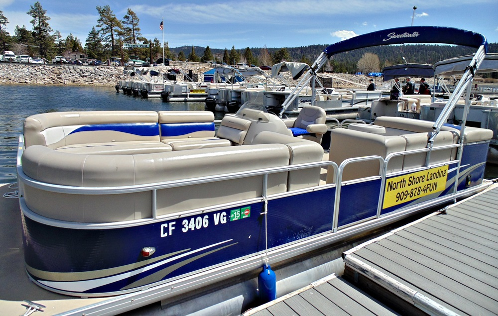 North Shore Langing Luxury Pontoon Rental Big Bear Lake California