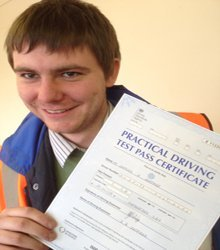 Happy newly qualified driver 13