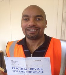 Happy newly qualified driver 6