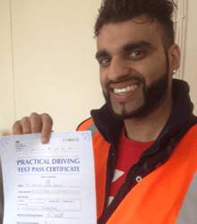 Happy newly qualified driver 15