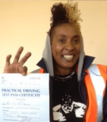 Happy newly qualified driver 12
