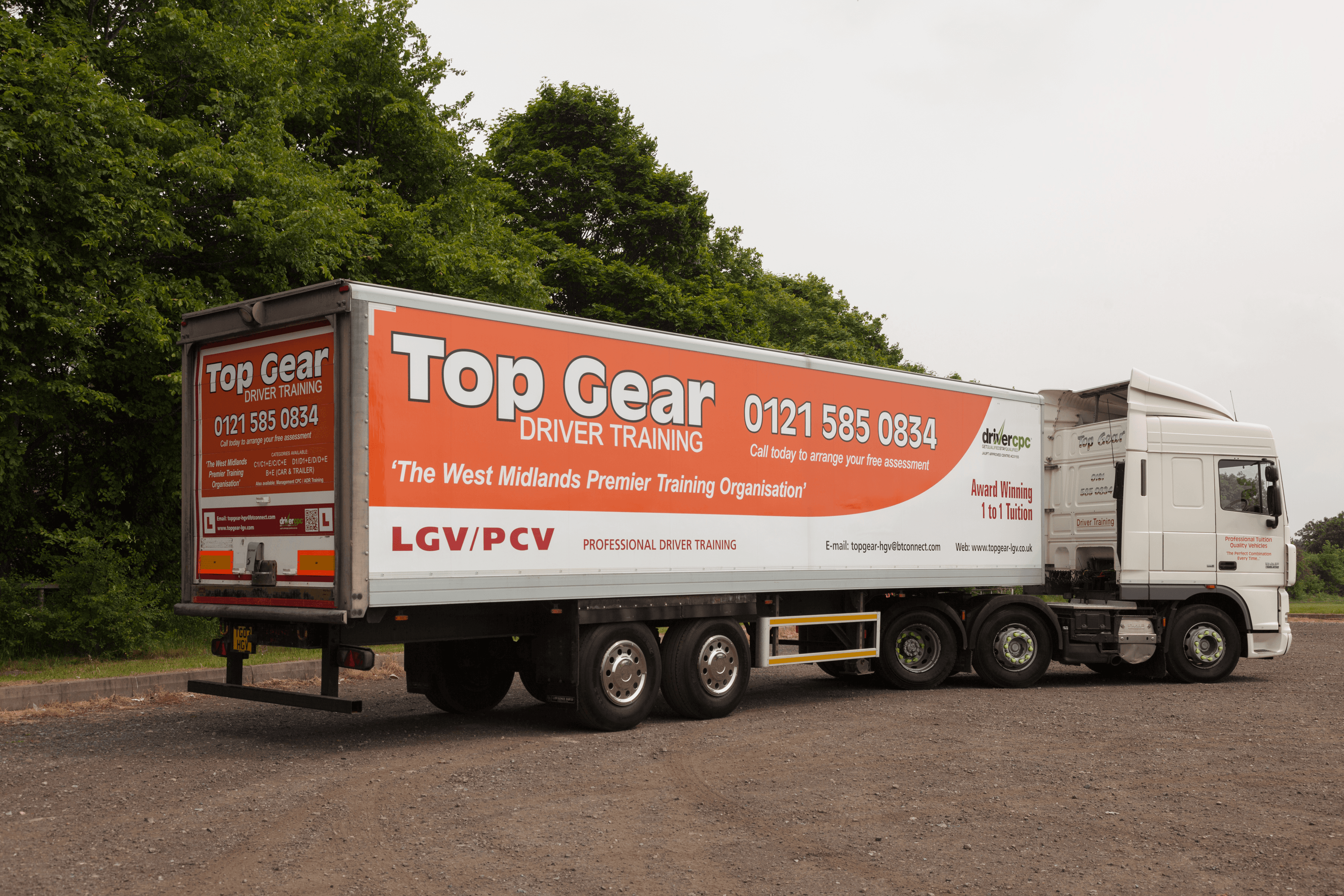 Top Gear training articulated lorry