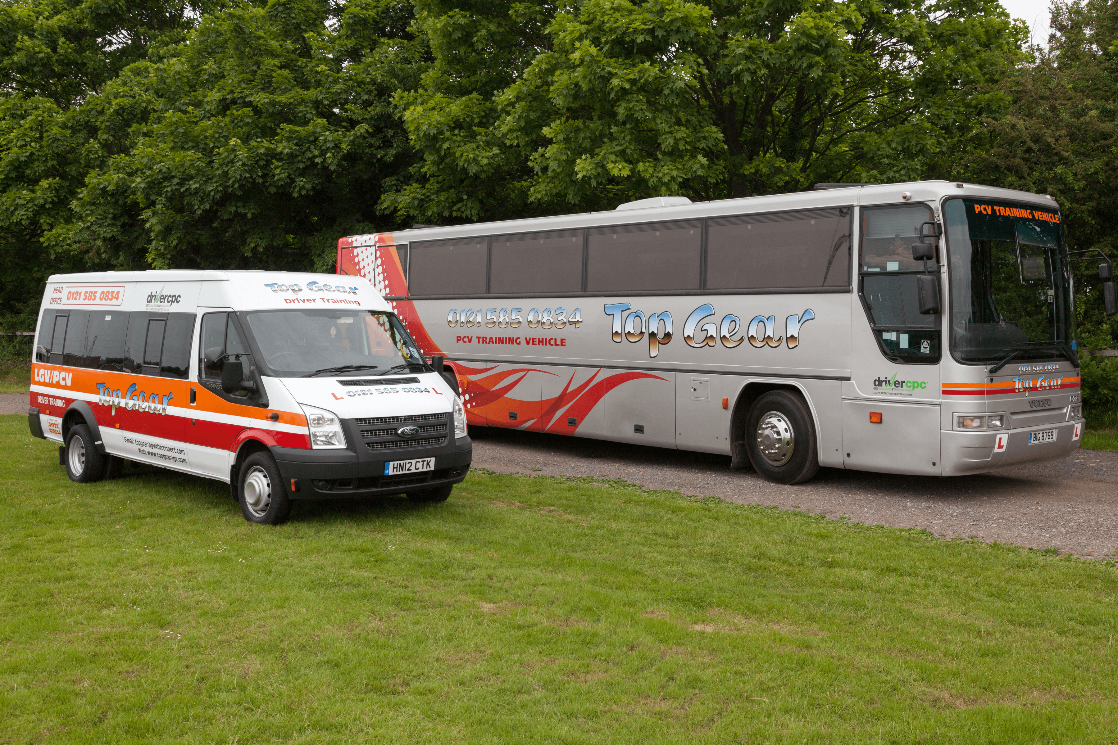 Top Gear coach and Ford Transit