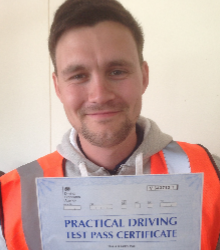Happy newly qualified driver 5