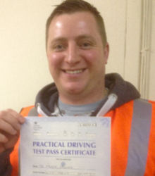Happy newly qualified driver 14