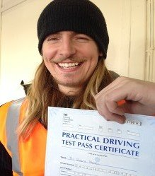 Happy newly qualified driver 3