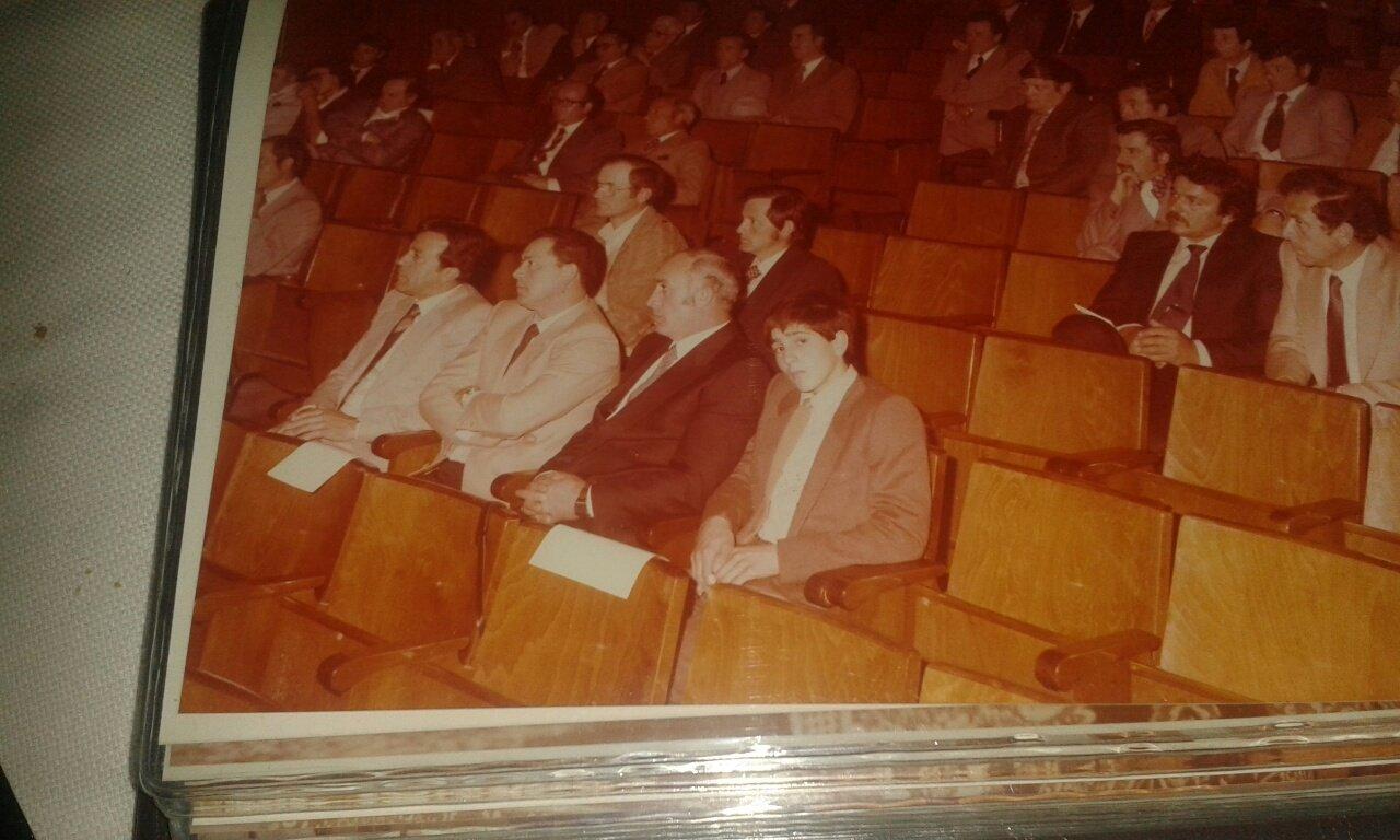 Foto storica dei proprietari di Edilfabri durante un appalto