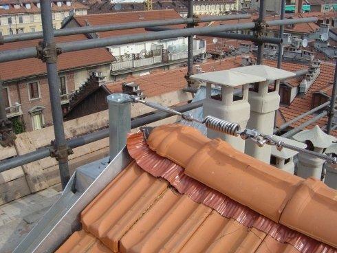 linea vita per manutenzione tetti torino