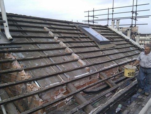 smantellamento tetto, rimozione coperture, sostituzione tetti