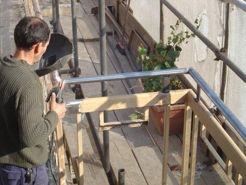 rialzamento ringhiere, coibentazioni, lavori di restauro