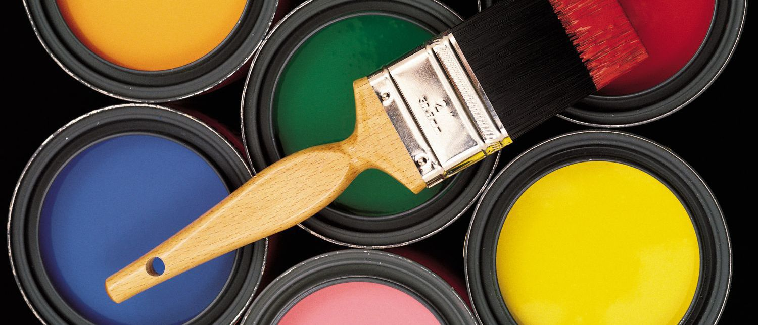 Buckets and paint brush used by painter in Whangarei