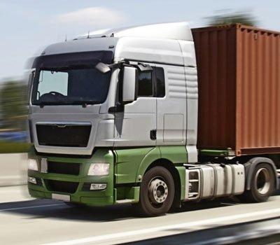 Large lorry hauling cargo
