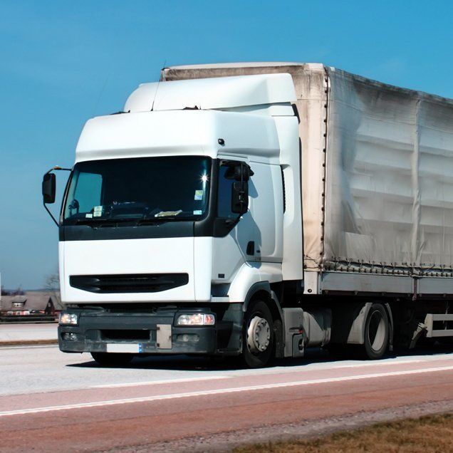 White articulated lorry