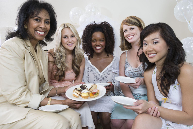 Girlfriends enjoy wedding catering service in Wahiawa, HI
