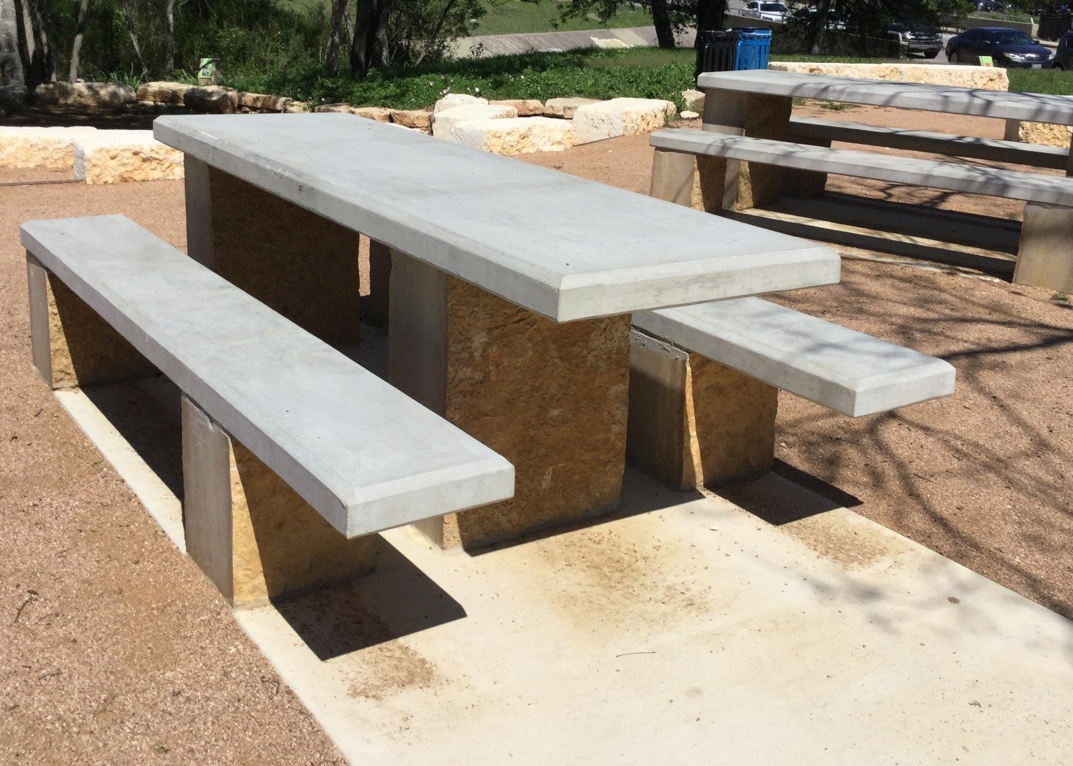 concrete picnic tables - Houston, Dallas, San Antonio & Austin, TX