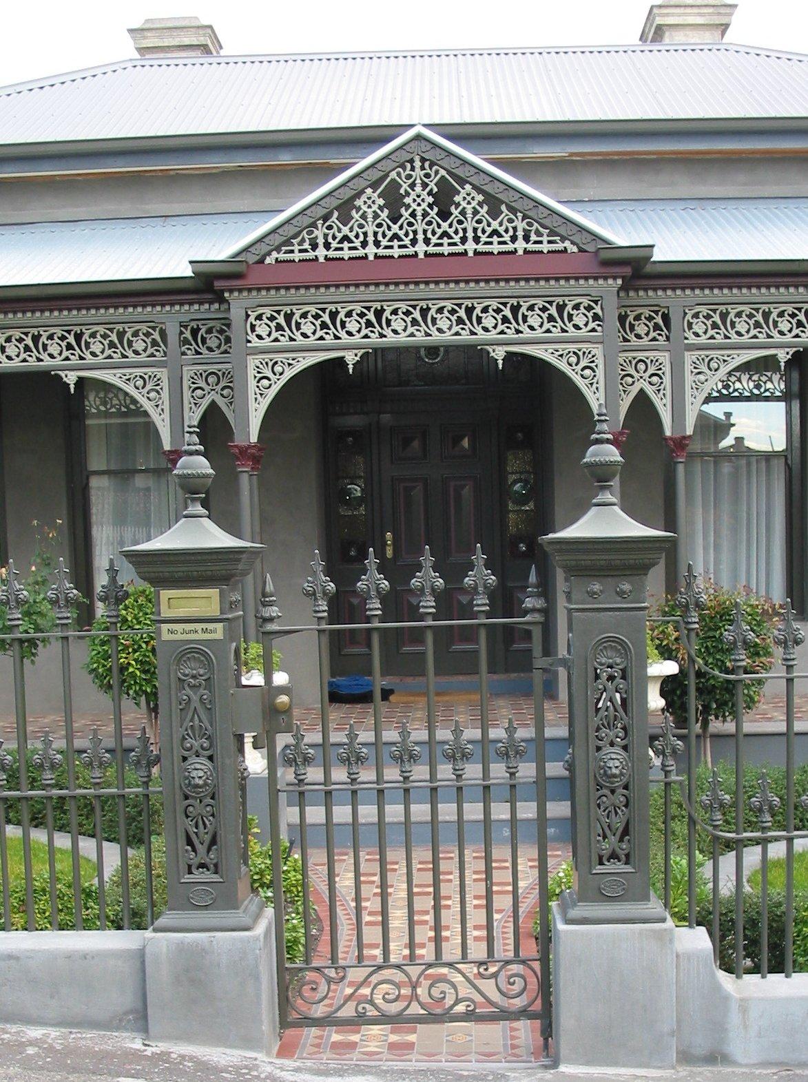 cast iron lacework verandah perry bird pickets