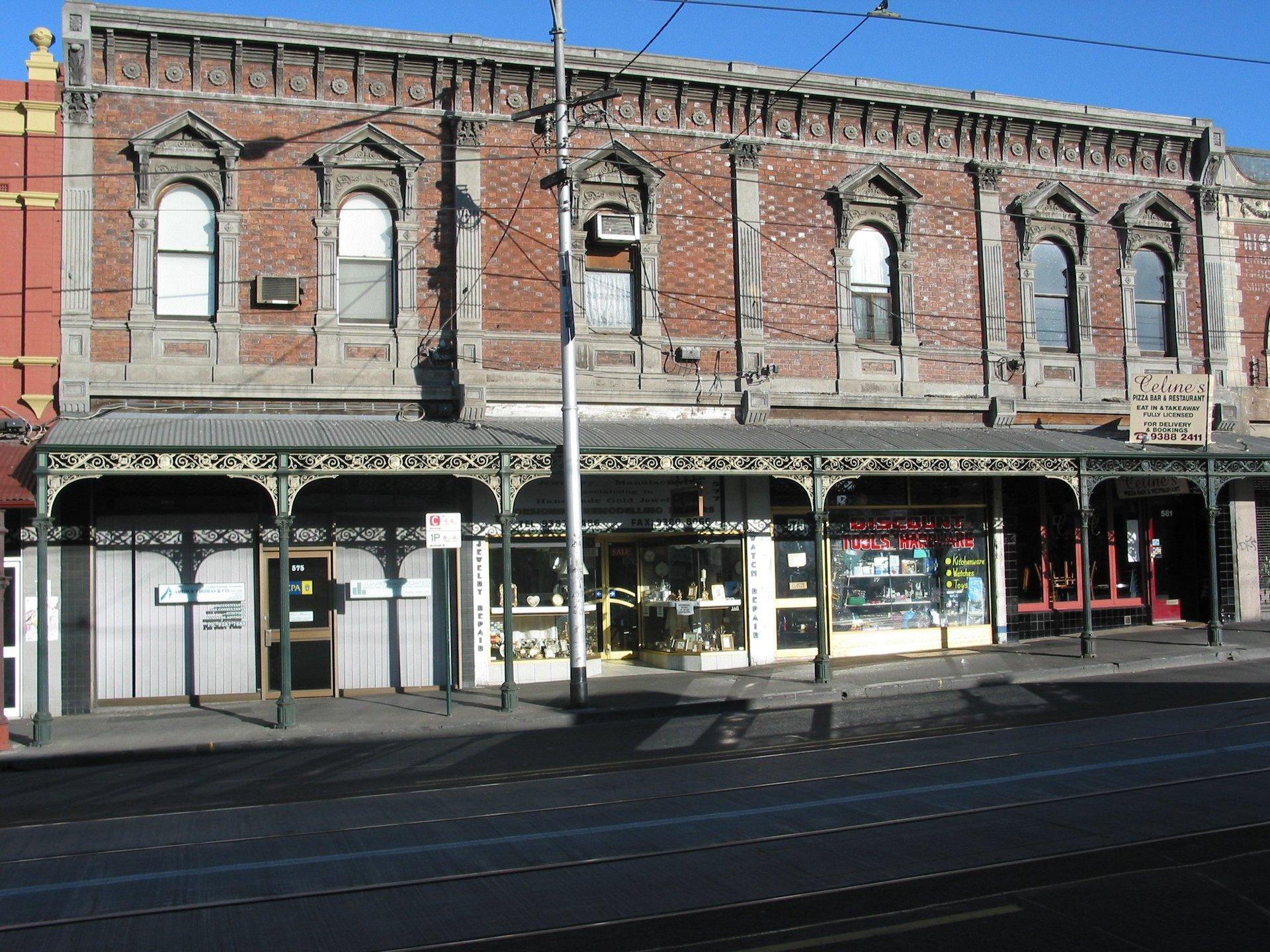 Continuous cast iron street verandah