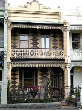 balcony with cast iron fencing