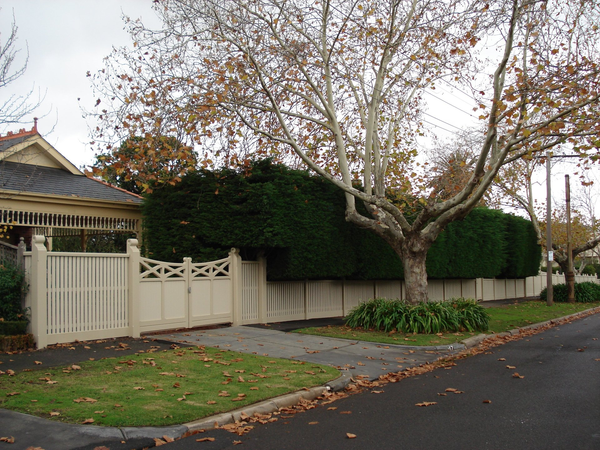 fencing around home