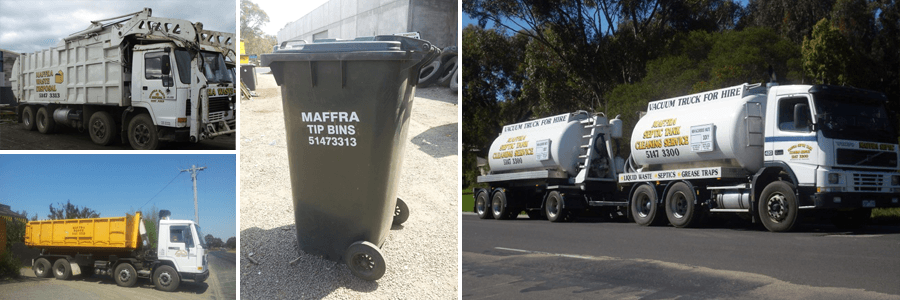 maffra septic tank cleaning service mother and daughter with recycle bin