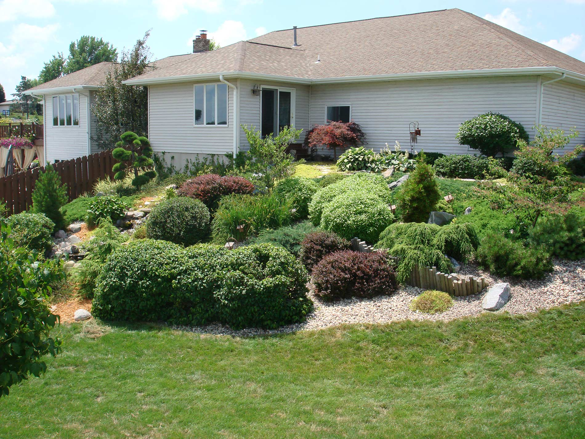 Landscaping service and constant maintenance
