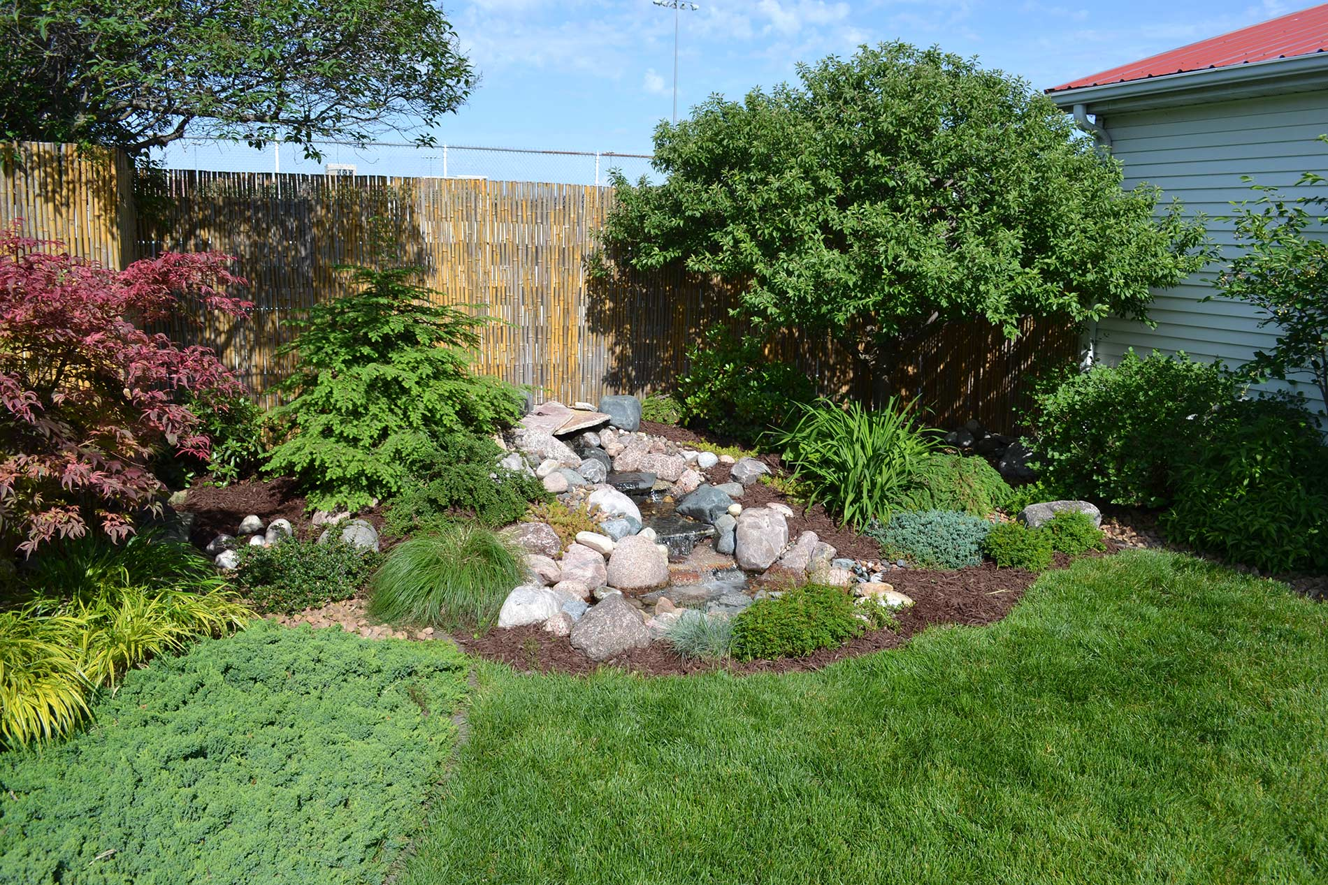Landscaping services, including installation and maintenance