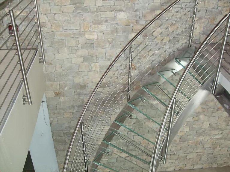 scala vetro inox