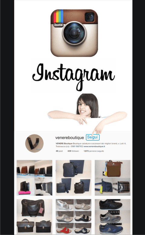 instagram VENERE BOUTIQUE