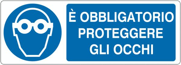 CARTELLO PROTEGEGRE GLI OCCHI