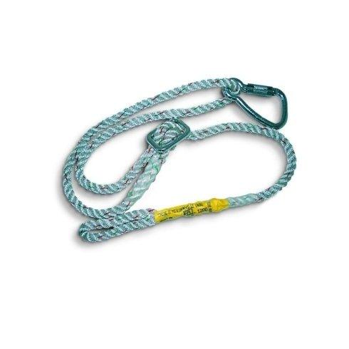 Art. N11 Cordino di posizionamentoisul alvoro, fune 100% poliammide diam. 12 mm. lunghezza 2 metri regolabiledotato di 1 moschettone in lega leggera