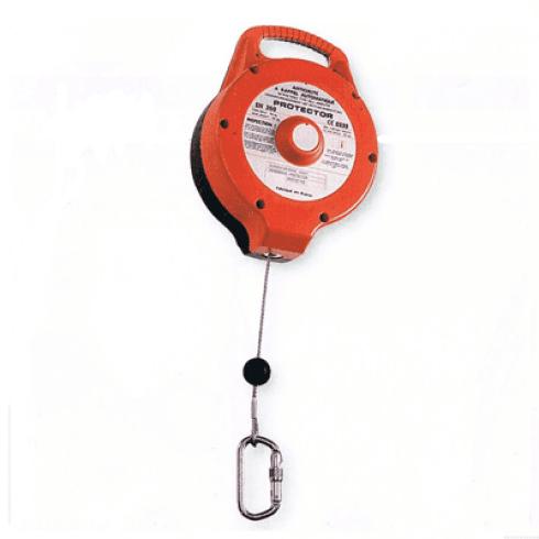 Art. 007/8 Dispositivo a richiamo automatico con cavo in acciaio, lunghezza metri 10 o 15 .