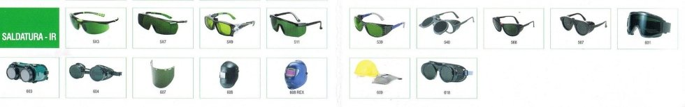 occhiali univet da saldatore e visiere