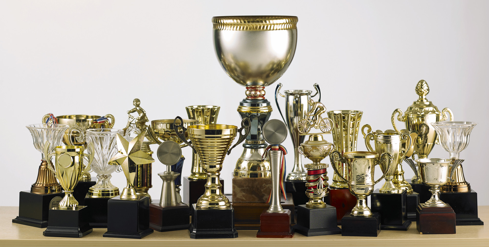 Engraved award shop has a range of trophies to congratulate someone in Auckland