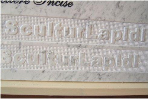 iscrizioni marmo