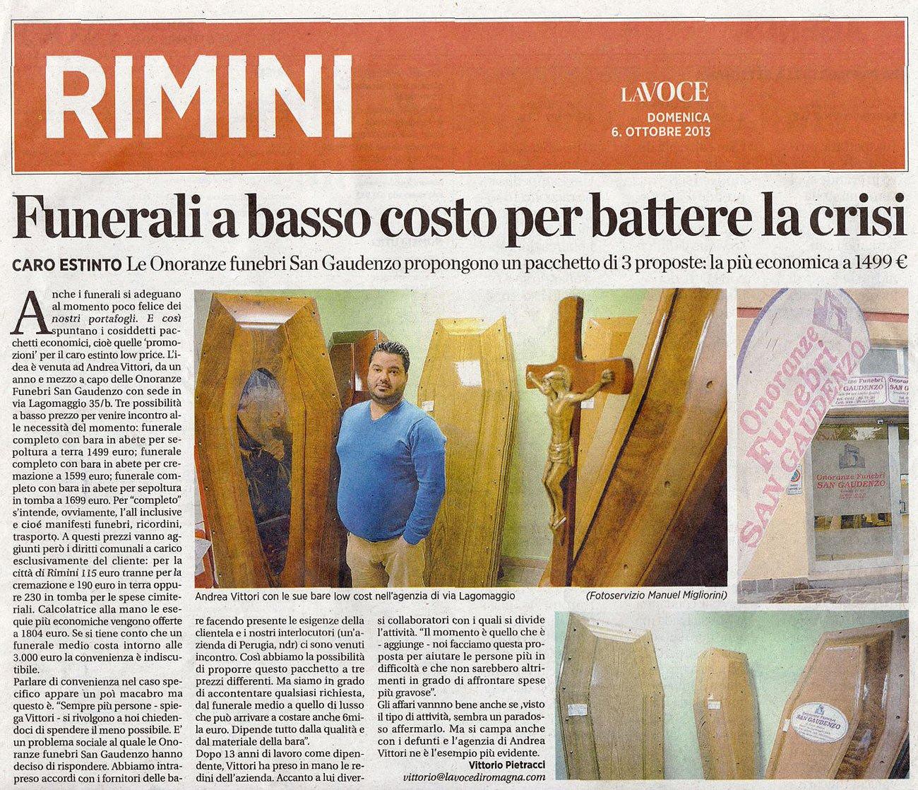 Dicono di noi Onoranze Pompe Funebri san Gaudenzo a Rimini