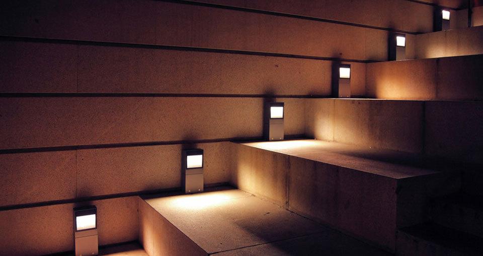illuminated stairway
