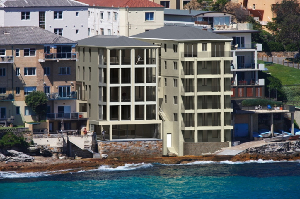 View of the ramsgate ave bondi beach project