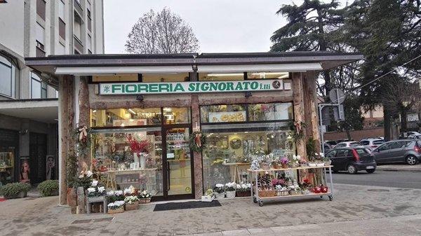 Vista frontale della fioreria Signorato Fratelli ad Arzignano