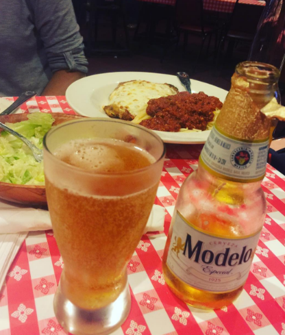 beer and pizza instagram